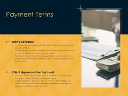 Payment Terms Schedule Ppt Powerpoint Presentation Portfolio Summary