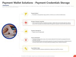 Payment Wallet Solutions Payment Credentials Storage Ppt Powerpoint Presentation Files