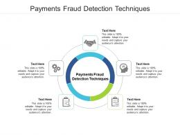 Payments Fraud Detection Techniques Ppt Powerpoint Presentation Shapes Cpb