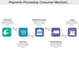 Payments Processing Consumer Merchant Processor Payment Issuer