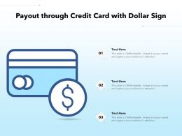 Payout Through Credit Card With Dollar Sign
