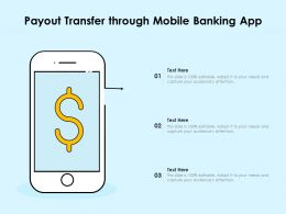 Payout Transfer Through Mobile Banking App