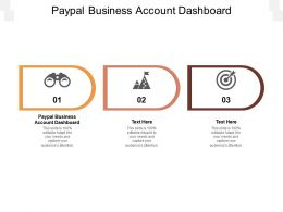 Paypal Business Account Dashboard Ppt Powerpoint Presentation Pictures Graphics Tutorials Cpb