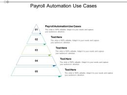 Payroll Automation Use Cases Ppt Powerpoint Presentation Ideas Examples Cpb