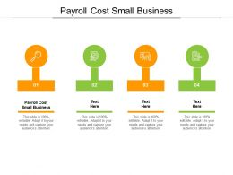 Payroll Cost Small Business Ppt Powerpoint Presentation File Icons Cpb