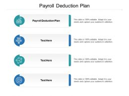 Payroll Deduction Plan Ppt Powerpoint Presentation Professional Shapes Cpb