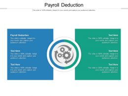 Payroll Deduction Ppt Powerpoint Presentation Summary Gridlines Cpb