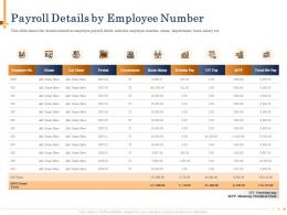 Payroll Details By Employee Number OT Pay Powerpoint Presentation Sample