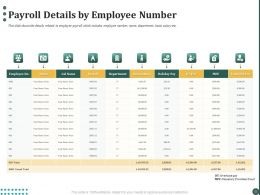 Payroll Details By Employee Number Ppt Powerpoint Presentation Professional Ideas