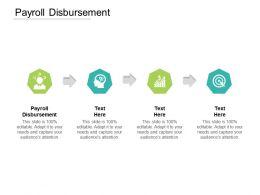 Payroll Disbursement Ppt Powerpoint Presentation Styles Template Cpb