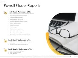 Payroll Files Or Reports Finance Ppt Powerpoint Presentation Outline Show