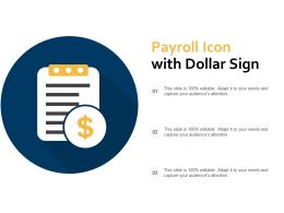 Payroll Icon With Dollar Sign