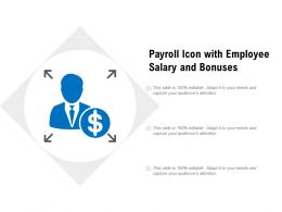 Payroll Icon With Employee Salary And Bonuses
