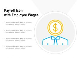 Payroll Icon With Employee Wages