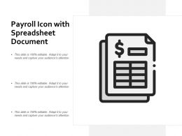 Payroll Icon With Spreadsheet Document