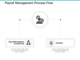 Payroll Management Process Flow Ppt Powerpoint Presentation Inspiration Graphic Tips Cpb
