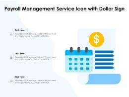 Payroll Management Service Icon With Dollar Sign
