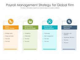 Payroll Management Strategy For Global Firm