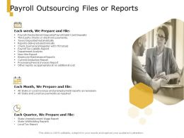 Payroll Outsourcing Files Or Reports Ppt Powerpoint Presentation Pictures Icons