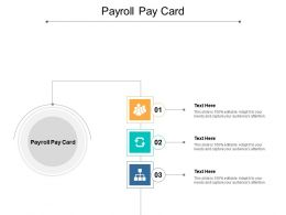 Payroll Pay Card Ppt Powerpoint Presentation Slides Demonstration Cpb