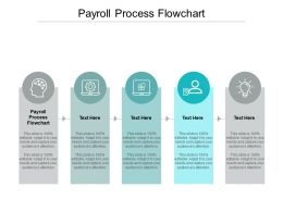 Payroll Process Flowchart Ppt Powerpoint Presentation Show Portrait Cpb