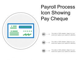 Payroll Process Icon Showing Pay Cheque