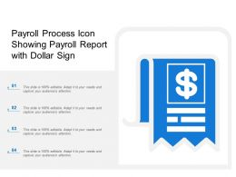Payroll Process Icon Showing Payroll Report With Dollar Sign
