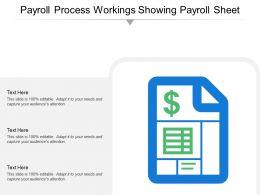 Payroll Process Workings Showing Payroll Sheet
