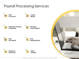Payroll Processing Services Direct Deposits Ppt Powerpoint Presentation Ideas Information