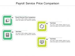 Payroll Service Price Comparison Ppt Powerpoint Presentation Layouts Show Cpb