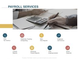 Payroll Services Custom Reports Ppt Powerpoint Presentation Inspiration