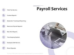 Payroll Services Reporting Ppt Powerpoint Presentation Infographic