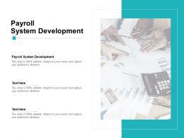 Payroll System Development Ppt Powerpoint Presentation Microsoft Cpb