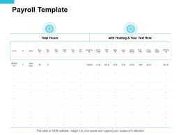 Payroll Template Compare Ppt Powerpoint Presentation Portfolio Clipart