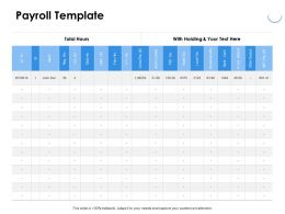 Payroll Template Ppt Powerpoint Presentation Portfolio Backgrounds