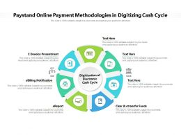 Paystand Online Payment Methodologies In Digitizing Cash Cycle