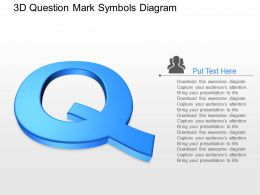 pb 3d Question Mark Symbols Diagram Powerpoint Template