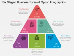 pb Six Staged Business Pyramid Option Infographics Flat Powerpoint Design