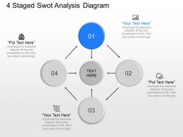 pc 4 Staged Swot Analysis Diagram Powerpoint Template