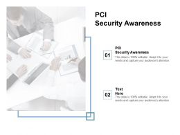 PCI Security Awareness Ppt Powerpoint Presentation Styles Gallery Cpb