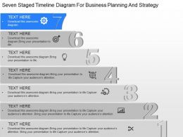 pd Seven Staged Timeline Diagram For Business Planning And Strategy Powerpoint Template