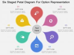 pd Six Staged Petal Diagram For Option Representation Flat Powerpoint Design