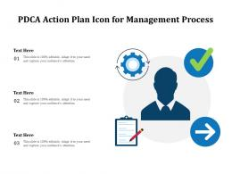 PDCA Action Plan Icon For Management Process