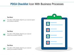 PDCA Checklist Icon With Business Processes