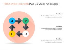PDCA Cycle Icon With Plan Do Check Act Process