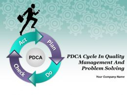 Pdca Cycle In Quality Management And Problem Solving Powerpoint Presentation Slides