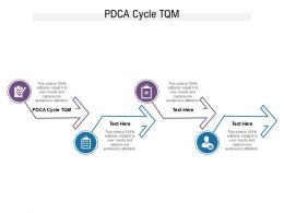 PDCA Cycle TQM Ppt Powerpoint Presentation Professional Slide Portrait Cpb