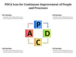 PDCA Icon For Continuous Improvement Of People And Processes