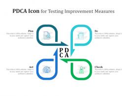 PDCA Icon For Testing Improvement Measures