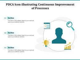 PDCA Icon Illustrating Continuous Improvement Of Processes